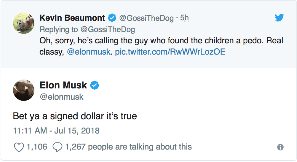 IMG 8 - Elon Musk Calls Thai Cave Rescuer A 'Pedophile' In Twitter Outburst