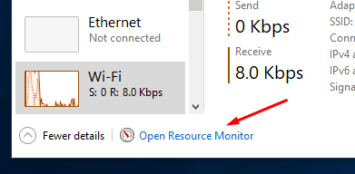 Windows 10 Resource Monitor