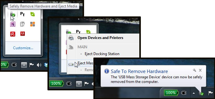 Safely Eject USB Device