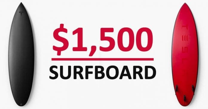 Tesla Released A $1,500 Surfboard That Sold Out In A Day