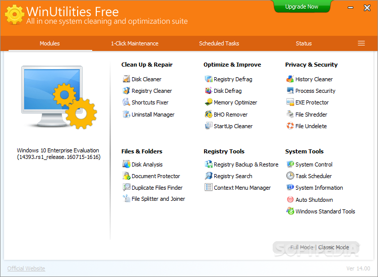 WinUtilities Registry Cleaner