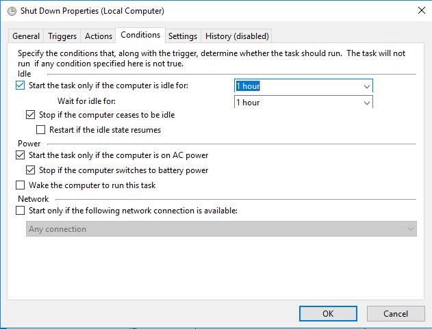 Schedule Windows 10 Shutdown
