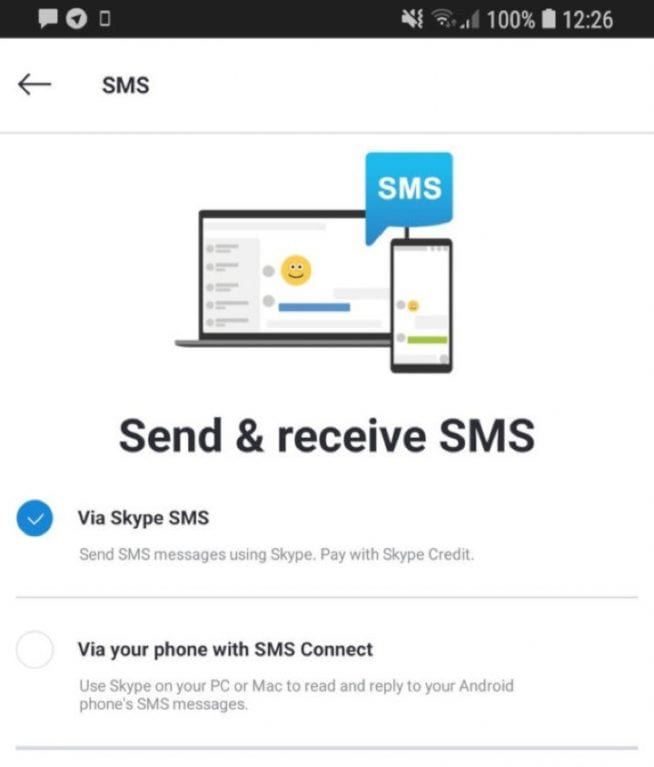 IMG 1 4 - WoW! Skype For Android Now Lets You Send, Receive SMS On PC or Mac