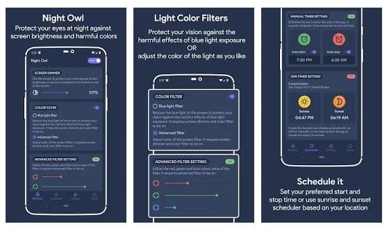 night filter app