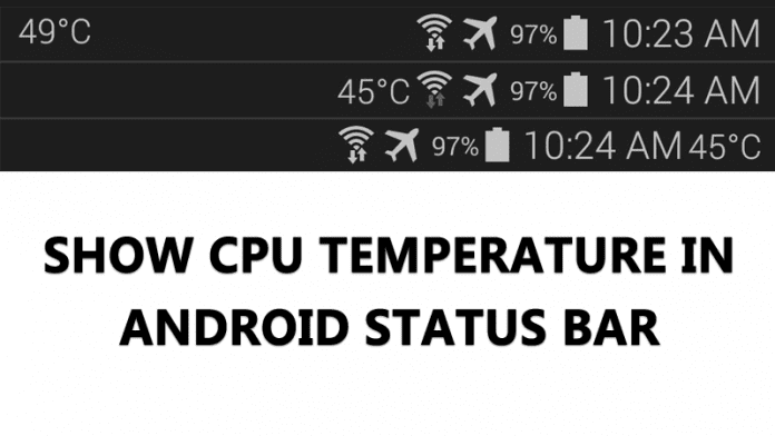 Show CPU Temperature on Status Bar