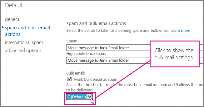 Check Your Spam Settings