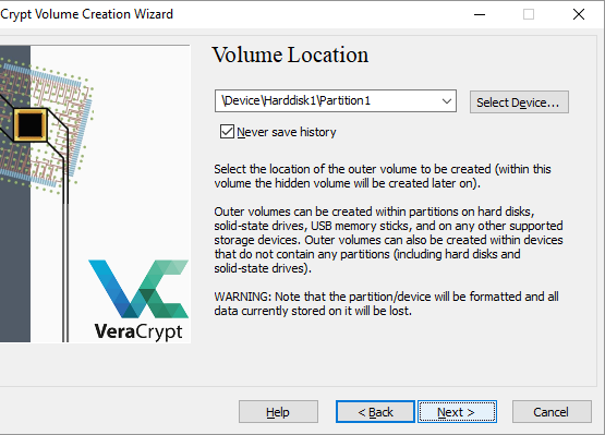 Browse the removable disk in the volume location