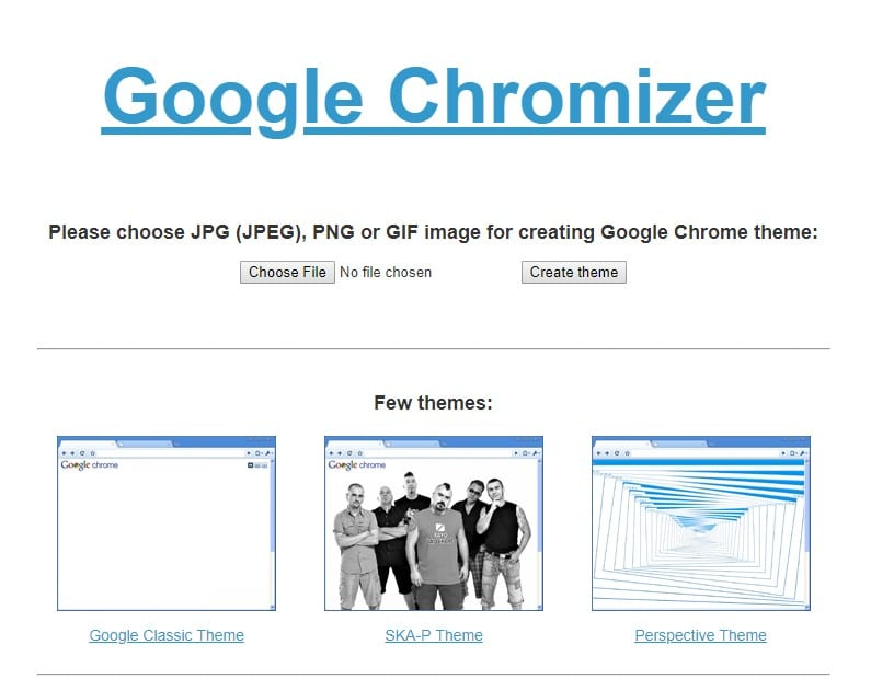 create Google Chrome theme