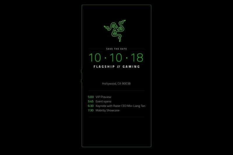 Razer Phone 2 to be Unveiled October 10