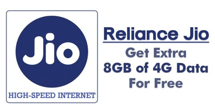 Reliance Jio Offer: Here's How You Can Get Extra 8GB of 4G Data For Free