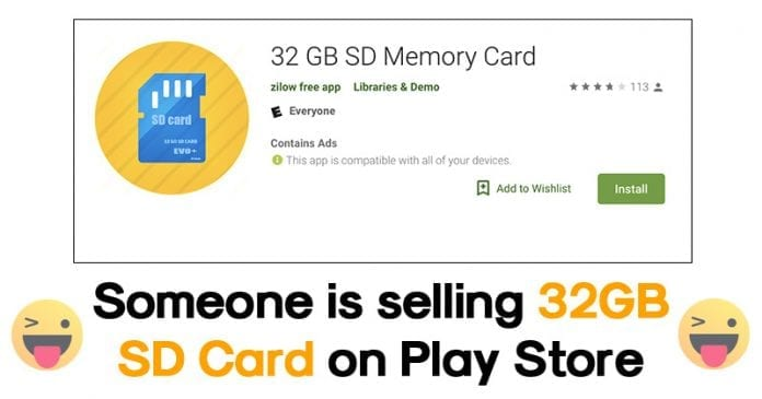 You Can Now Download 32GB SD Card From Google Play Store!