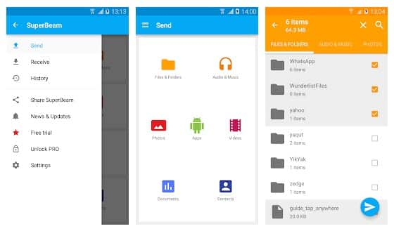 Send Large Files From Android