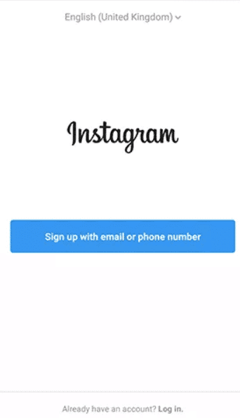 Sign in with Instagram account
