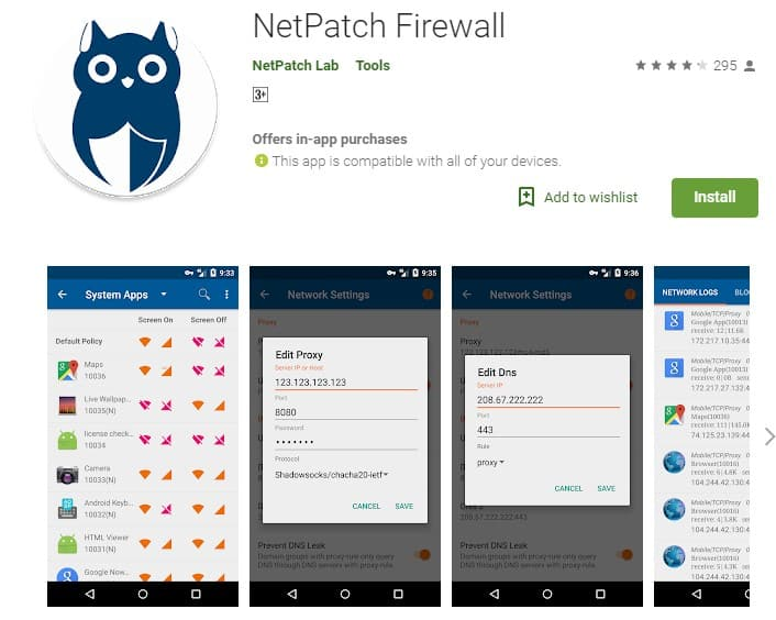 Using NetPatch Firewall