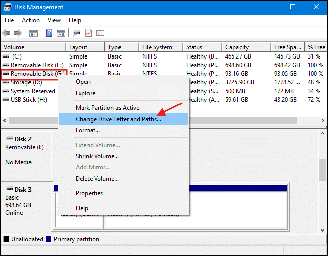 Assign Different Drive Letter
