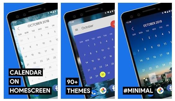 calendar widget android