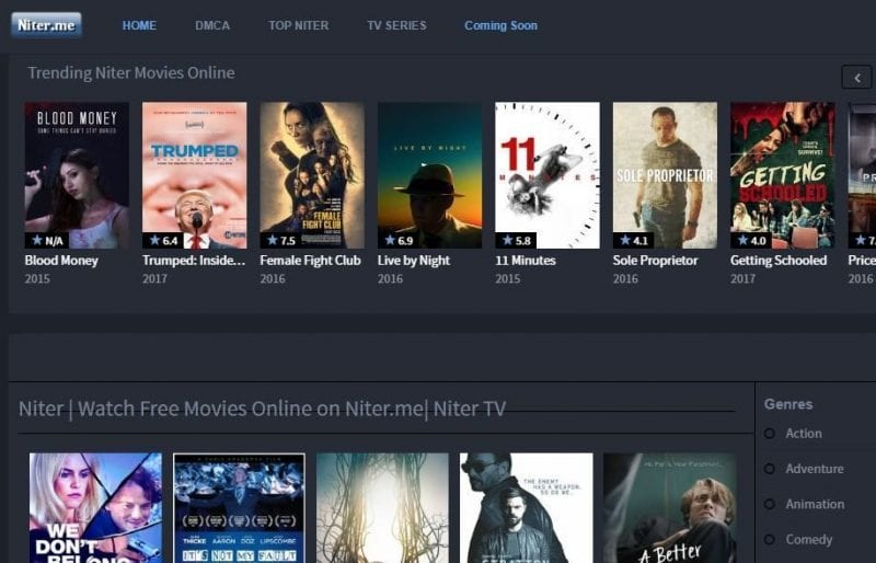 Niter: Best sites to watch online movies