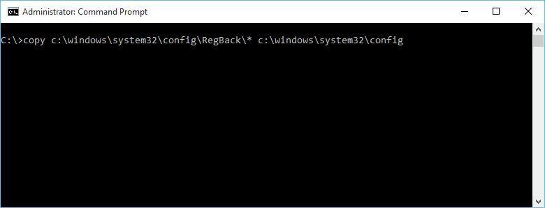 Restore Windows Registry
