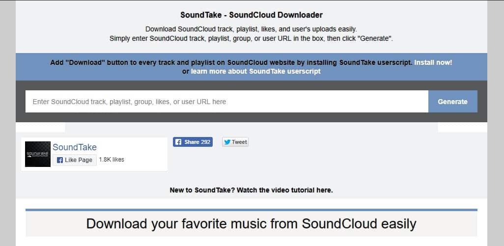 Using Soundtake