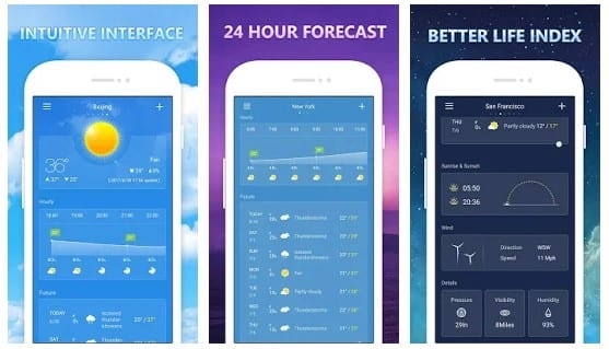 weather and clock widget for android free download