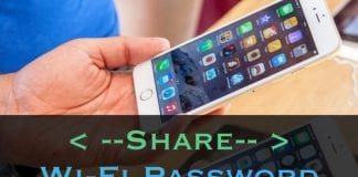how to share wifi password iphone to iphone