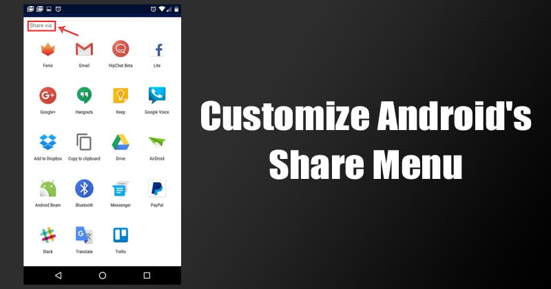How To Customize Android's Share Menu (Latest Methods)