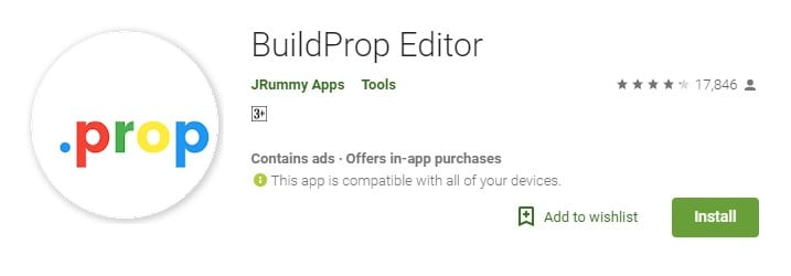Download & install BuildProp Editor