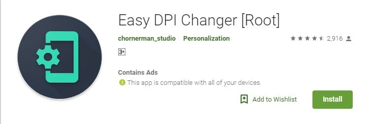 Download Easy DPI Changer on your Android smartphone