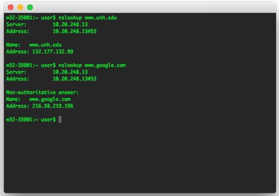 Check DNS Server - Mac & Linux