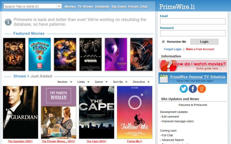 PrimeWire - 15+ Best 123Movies Alternatives To Watch Movies For Free