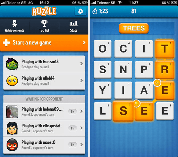 Ruzzle - Best Android Word Game