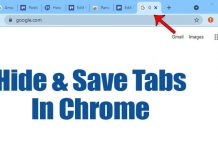 How To Quickly Hide & Save Tabs In Your Google Chrome