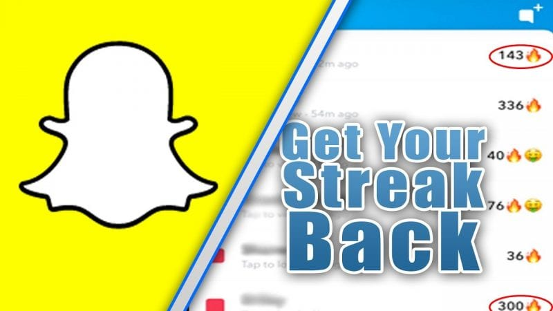how to get your Snap Streak Back