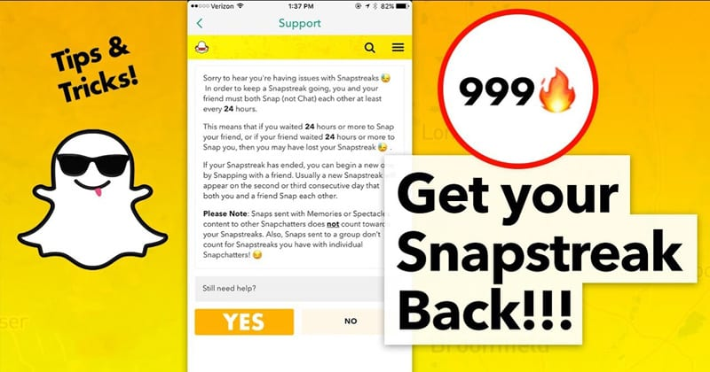 How To Get Snapchat Streak Back (Snapchat Streak Hack)