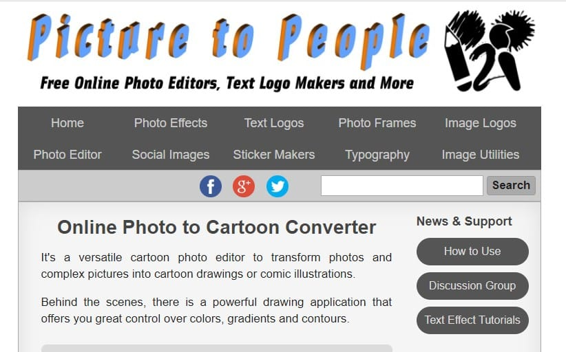 Using Picture To People - Online Photo to Cartoon Converter