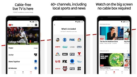 YouTube TV - Top 15+ Best Free Live TV Apps For Android