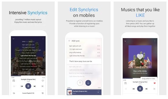 music player with lyrics for android