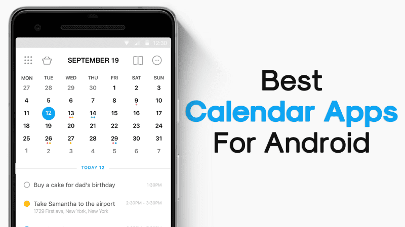 Android Calendar.Top 20 Best Calendar Apps For Android 2019