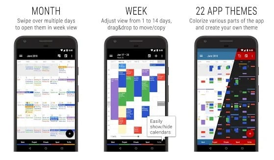 calendar app for android free download