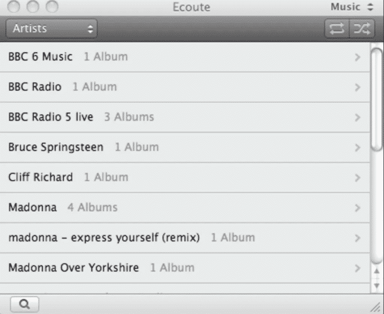 Ecoute - Top 10 Best Music Players For MAC (2019 List)