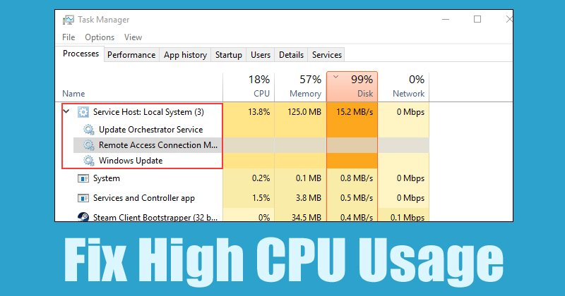 Service Host: Local System - How To Fix High CPU Usage