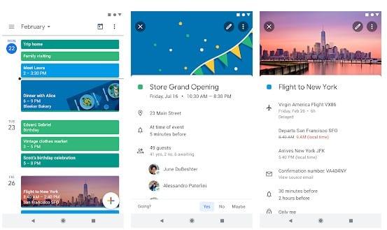 Google Calendar - Top 20 Best Calendar Apps For Android 2019