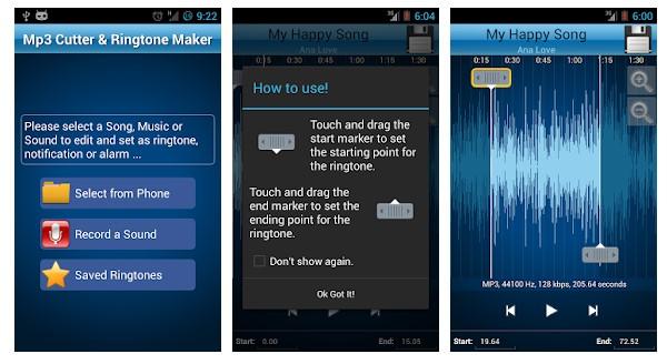 Aplikasi Cara Buat Nada Dering di Hape Android - MP3 Cutter and Ringtone Maker