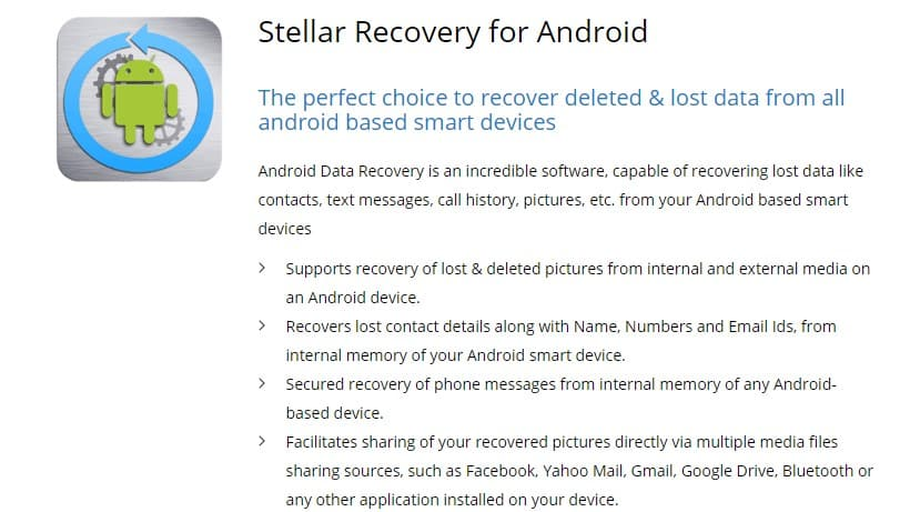 Stellar Recovery for Android