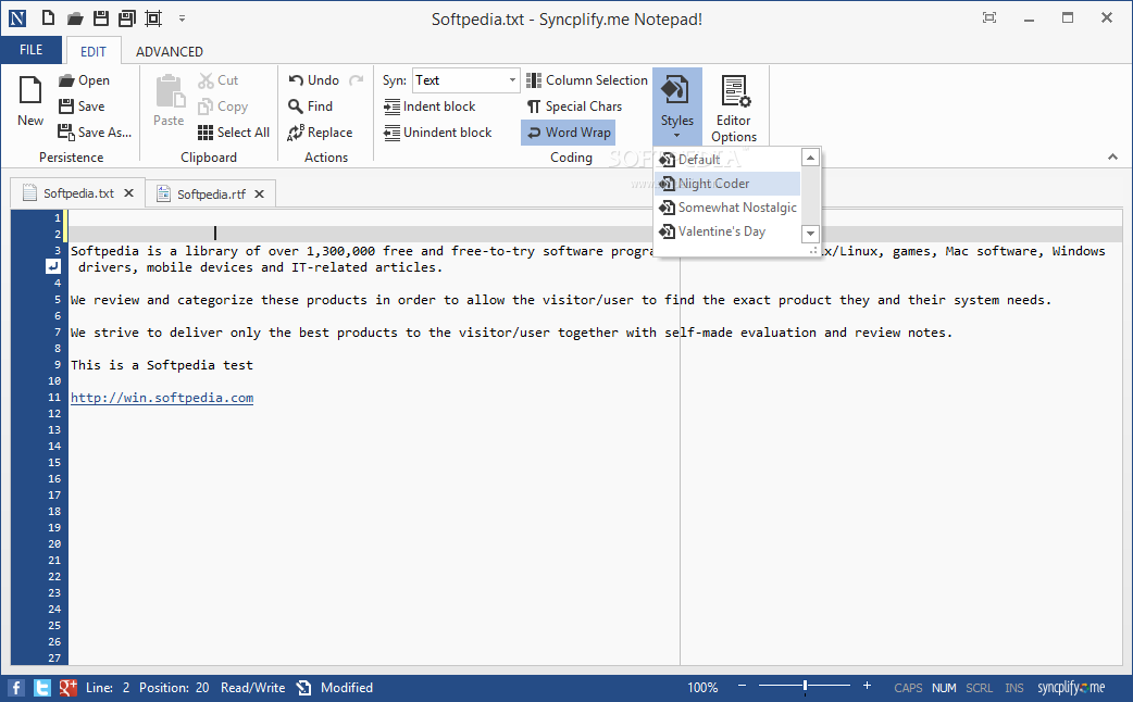 Syncplify.me Notepad!