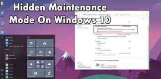 How To Use Automatic Maintenance Feature On Windows 10
