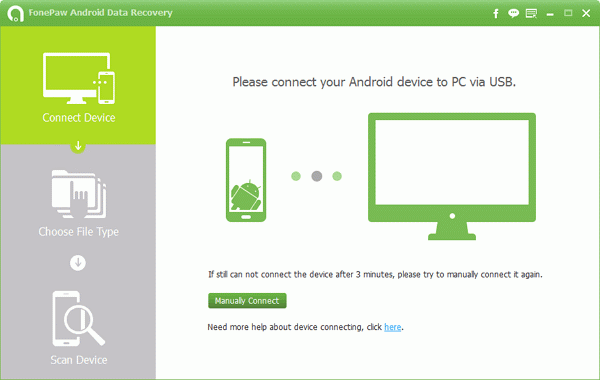 Using FonePaw Android Data Recovery