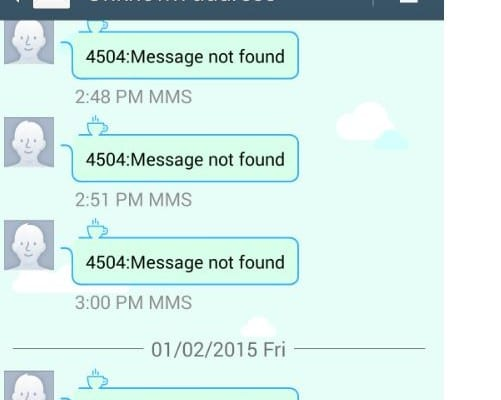 Unknown Address 4504: Message Not Found
