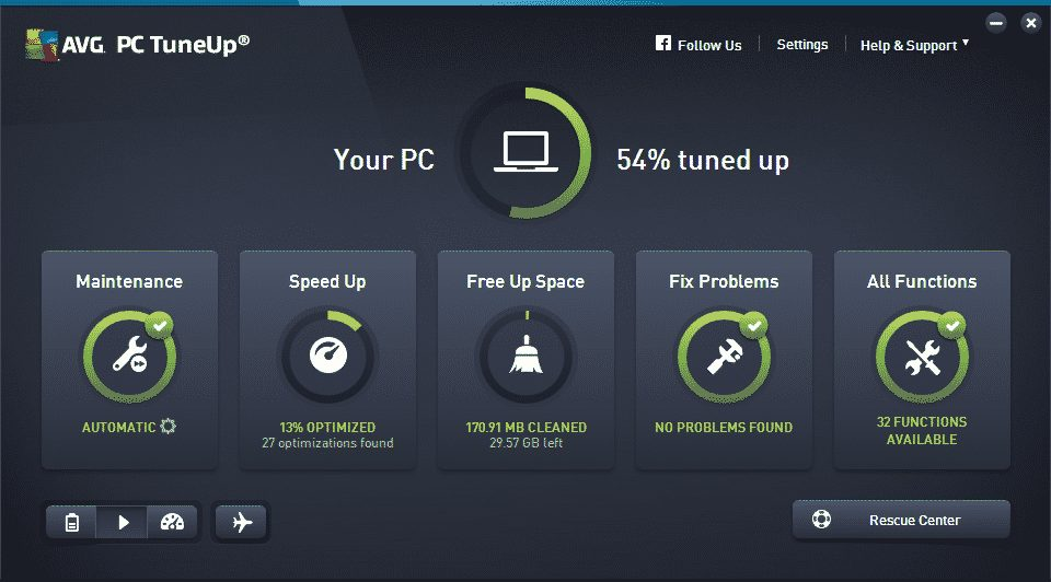 Use AVG PC TuneUp's Uninstaller and Program Deactivator