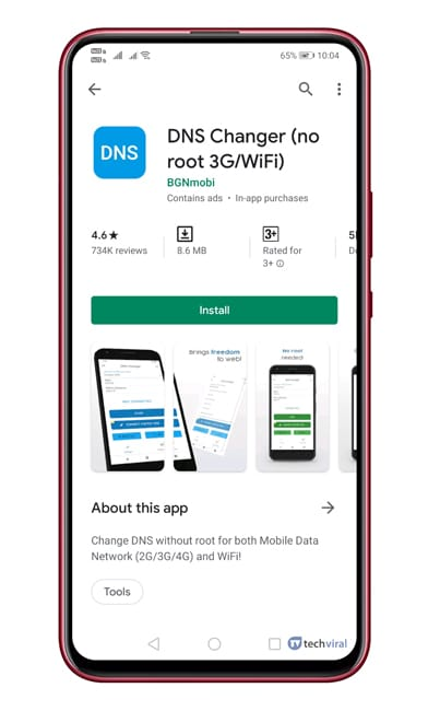 Install DNS Changer On Android